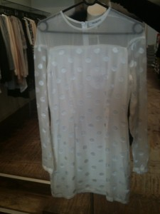 White polka Maurie and Eve dress - $220