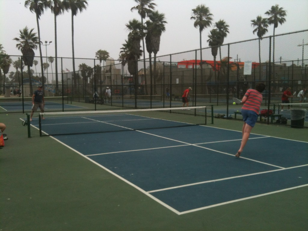 Paddle Tennis at Venice Beach