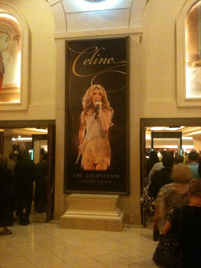 Making our way into the Celine Dion concert in Vegas