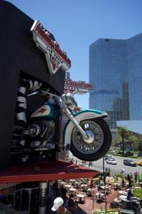 Giant Harley Davidson motorbike