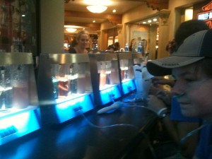 Tom tries out the Oxygen Bar