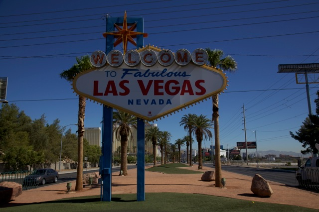 The famous 'Welcome to Las Vegas' sign at the city's entrance