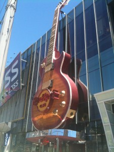 Hard Rock Cafe giant guitar