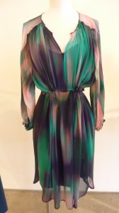 Aqua spinner print dress $550