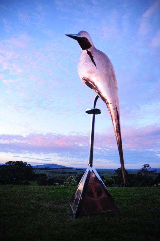 Bronze and steel dart bird