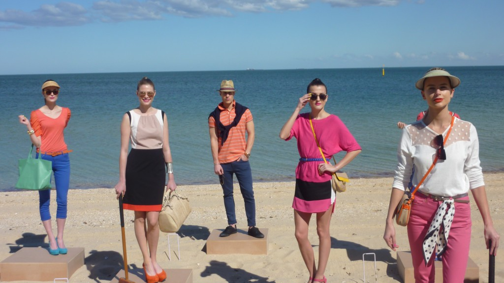 Models show-casing the spring/summer fashion range for Harris Scarfe