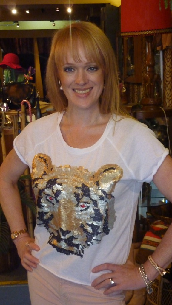 Lion In Love sequin t-shirt - $89