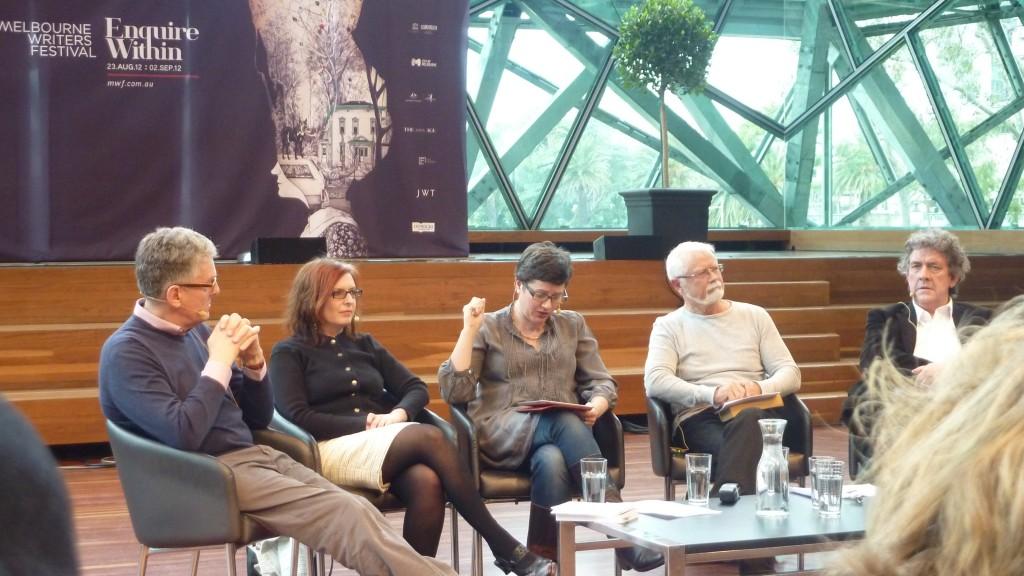 David Marr, Alison Croggon, Sophie Cunningham, Rodney Hall, Peter Craven