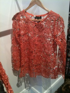 Elliat Burnt Orange lace top - $69.95