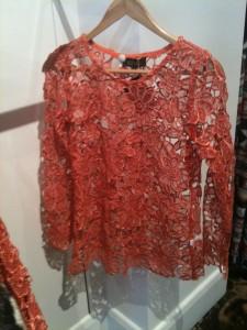 Elliat Burnt Orange lace top - $69.95