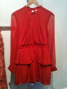Maurie and Eve Peplum dress: poppy - $249