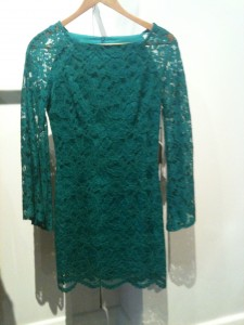 Shona Joy Old World Body Con dress; emerald green - $200