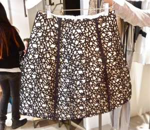 Intertwined Black Lace Skirt $499
