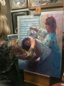 Jennifer's painting of girls washing hair