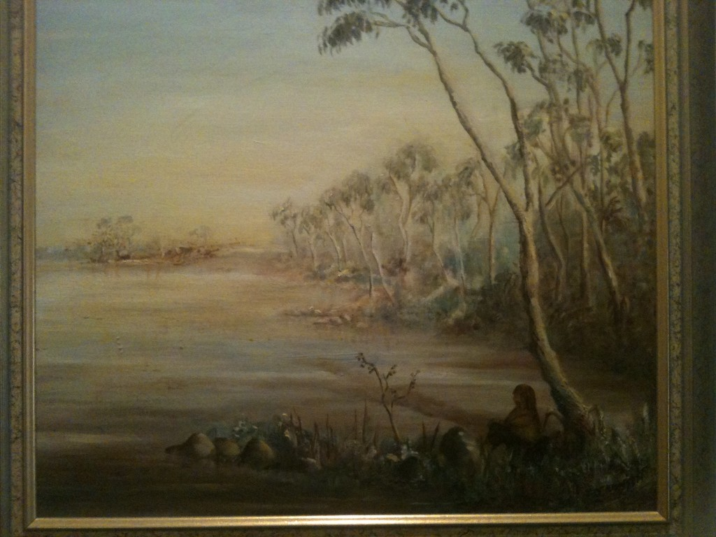Painting by teenager aspiring to be impressionistic pre-Angry Penguin Australian painter