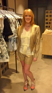 Little Mermaid gold jacket $549; shorts $299 with Lemon Sugar and Mango top $349