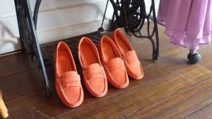 Maya McQueen Watermelon loafers $169