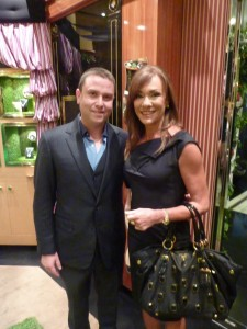 James Kennedy of LK Boutique with Ann Peacock