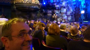 Fletch in the audience of Matilda the Musical