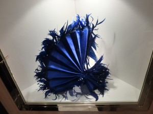Blue pleats with feather fringing by Richard Nylon