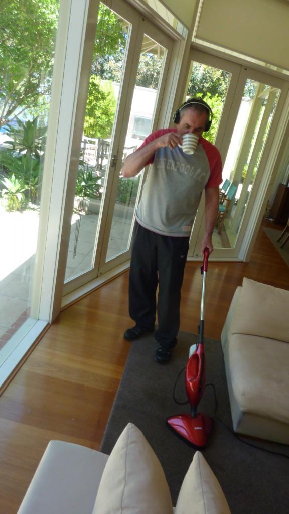 Steam cleaning Fletch
