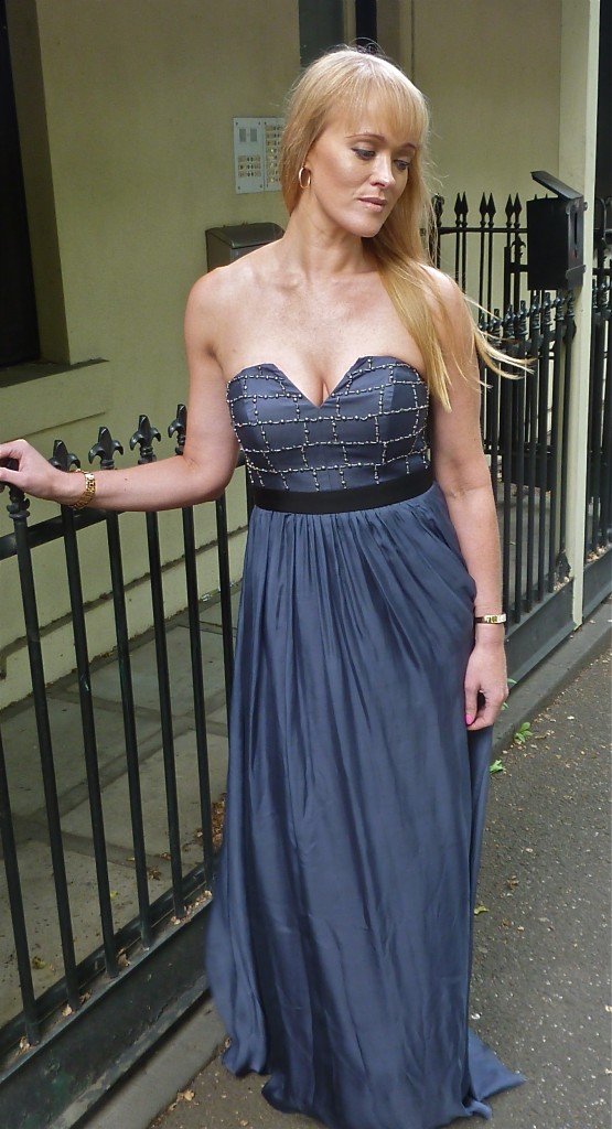 Whitney denim blue gown - RRP $529