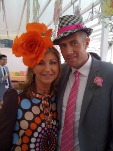 Mitch Catlin with the 'other' Jen: Oaks Day, 2010
