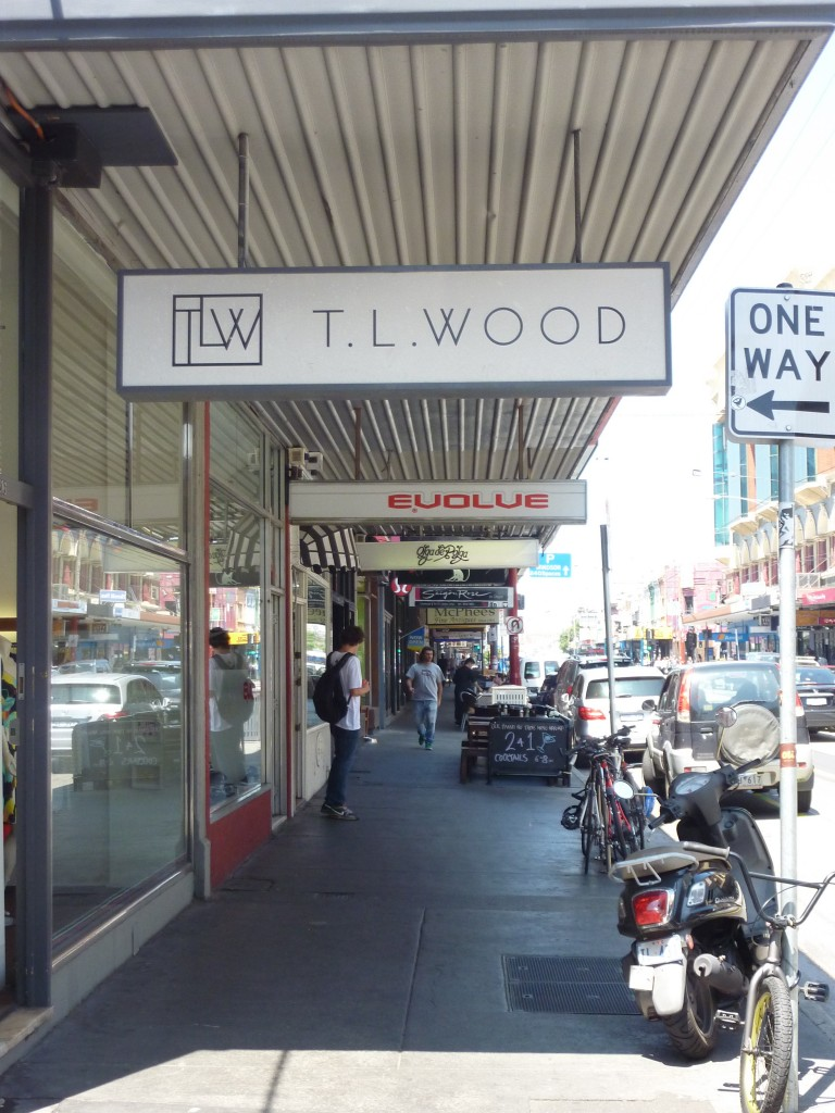 T.L.Wood at 216 Chapel Street, Prahran