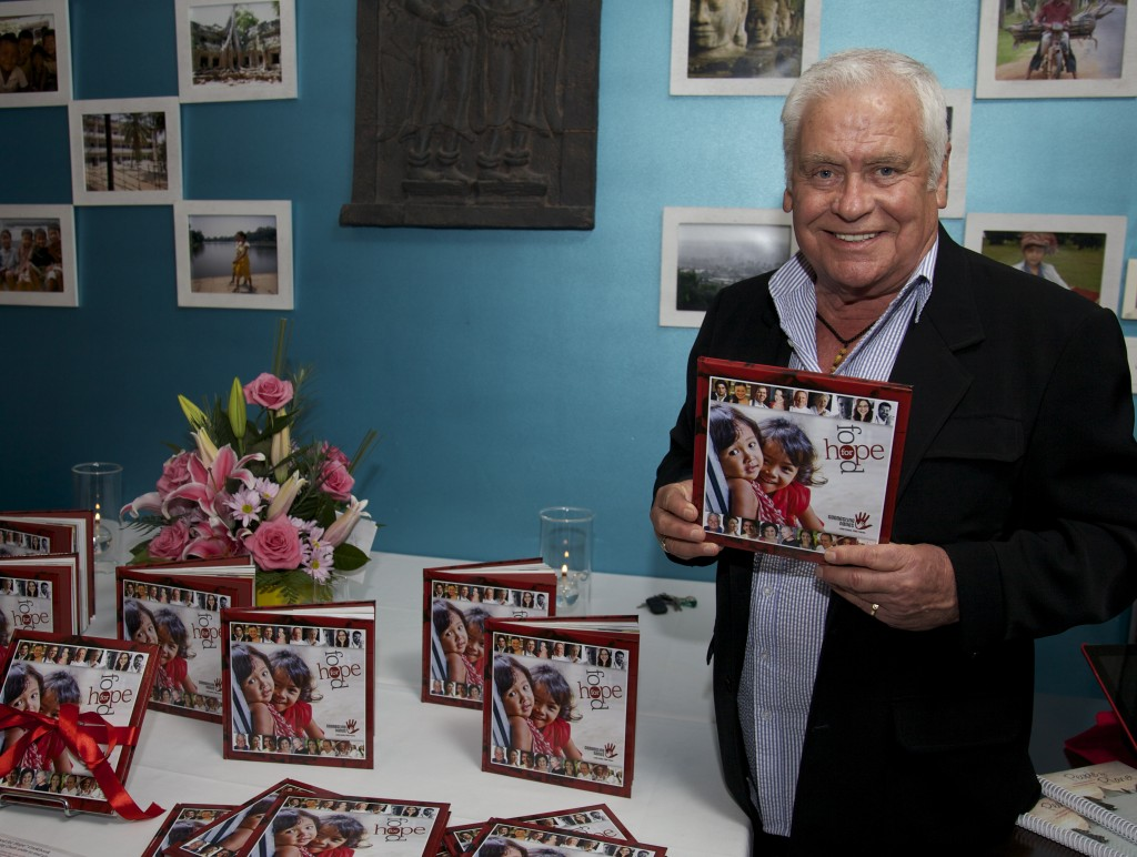 Tom Oliver at the Food for Hope book launch