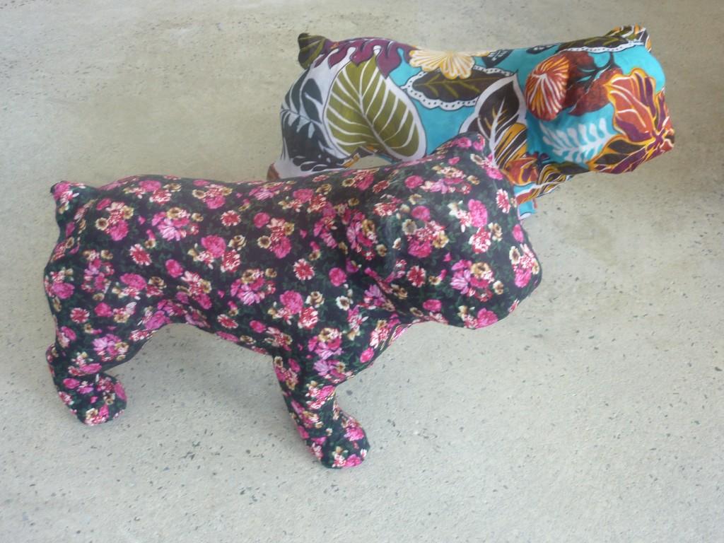 Paper mache Bulldogs $150