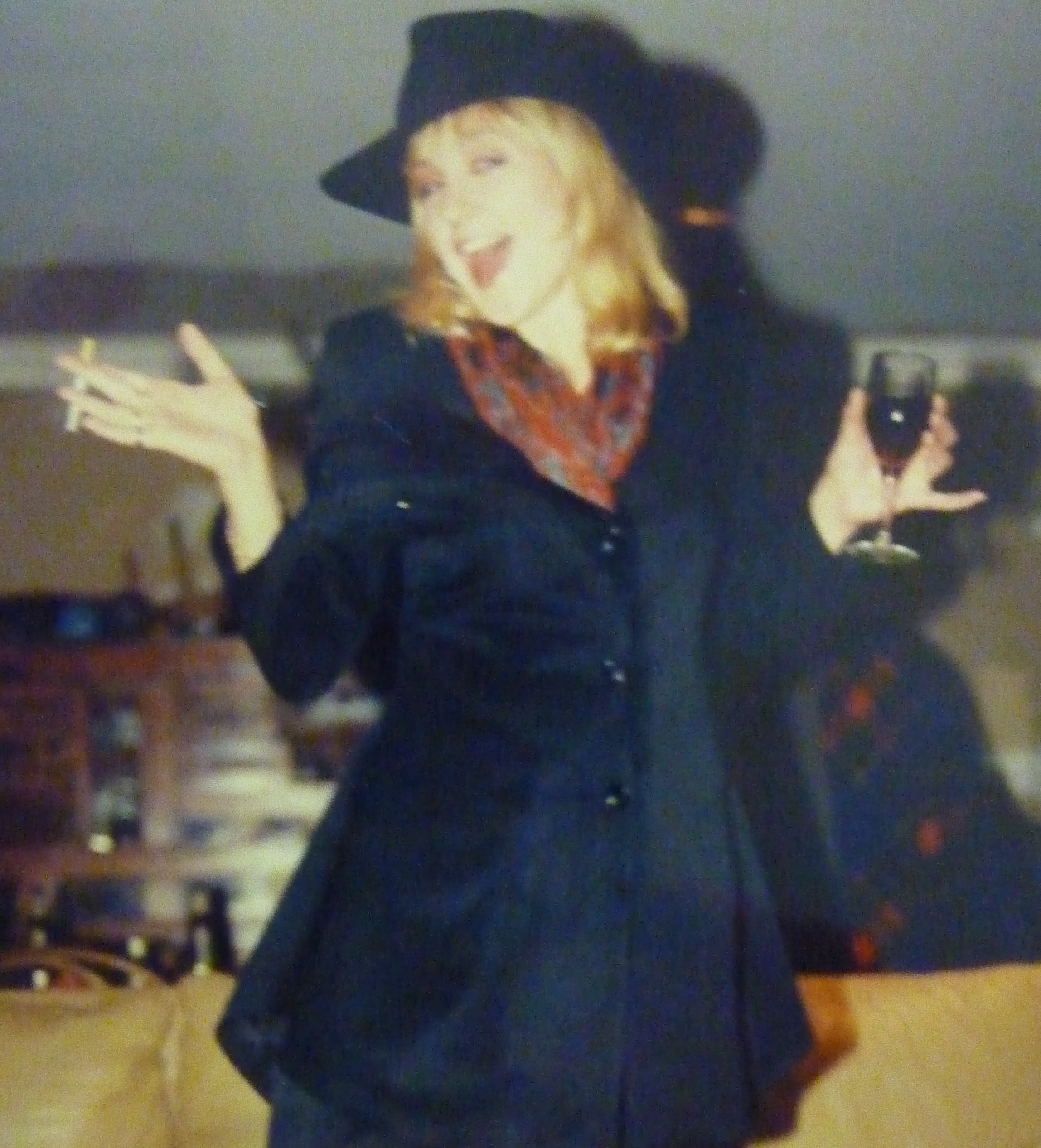 Did I really think that hat worked? And the cigarette?