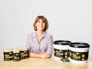 Emma Dumas with her product The Muesli