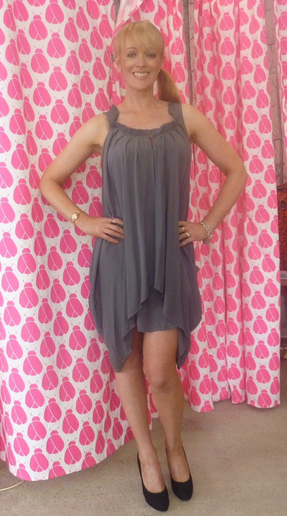 Belle and Beans 'State' slate grey dress $99.95