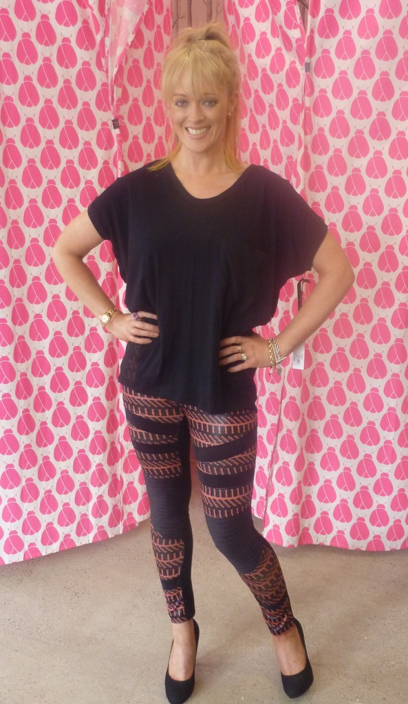 Bellini black top $59.95 and Caroline Morgan pants $49.95