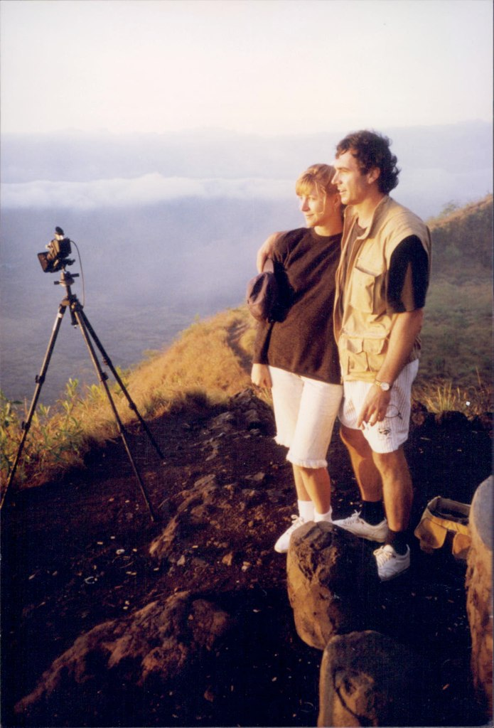 Sunrise on the top of Mt Batur, Bali