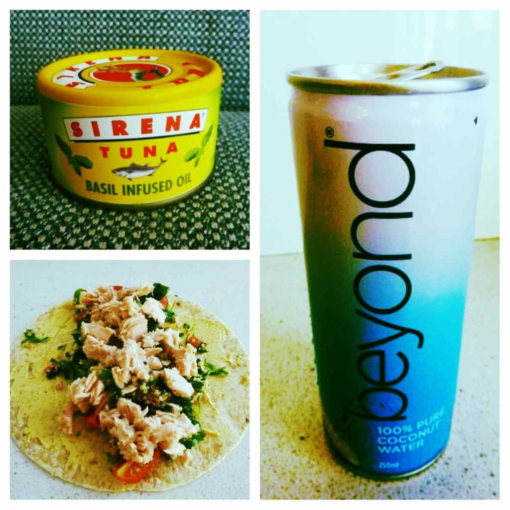 It's a tuna wrap… with a BEYOND Coconut Water