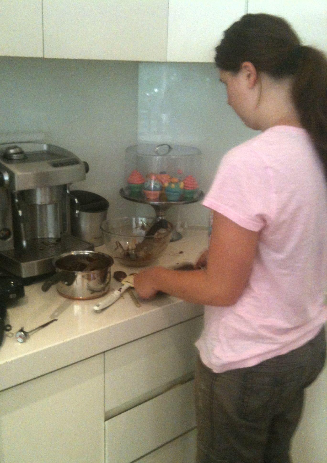 My daughter, the chocolatier