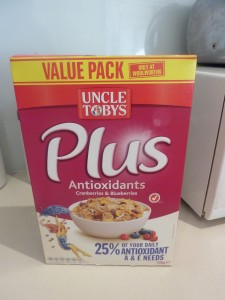 Uncle Toby's Antioxidant cereal