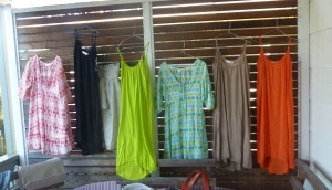 Summer dresses - patterned $90, Plain $80.