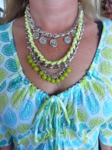 Green cluster necklace $65