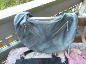 Grey zip bag - $180