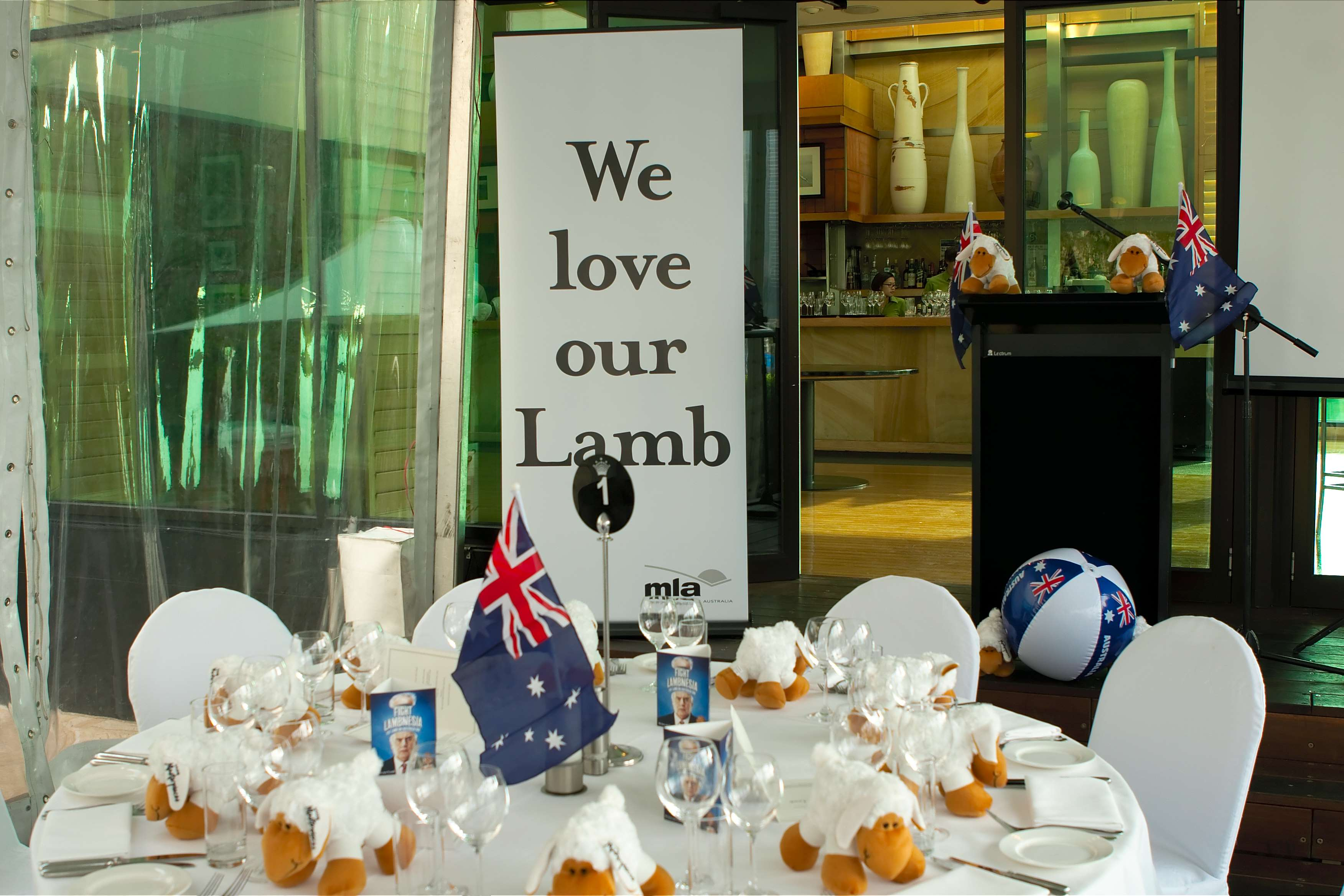 Australia Day Lamb Dinner at Breezes, Crown