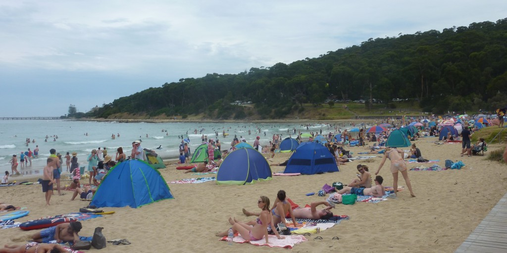 Lorne beach yesterday