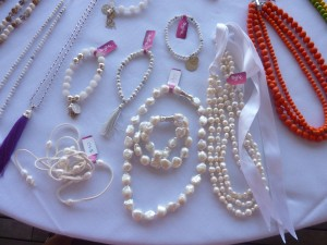 Genuine pearl necklace  or bracelet - large $190