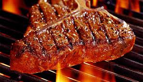 Sizzling steak...