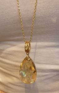 Big on bling, the Silken Whisper Pendant - $79