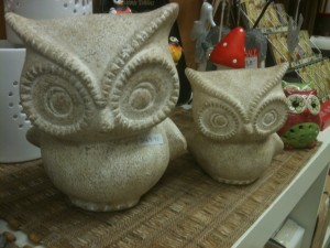 Owl Pair - large $44.95, small $24.95