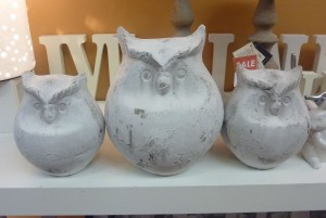 Owl trio - small, $18 and large, $24