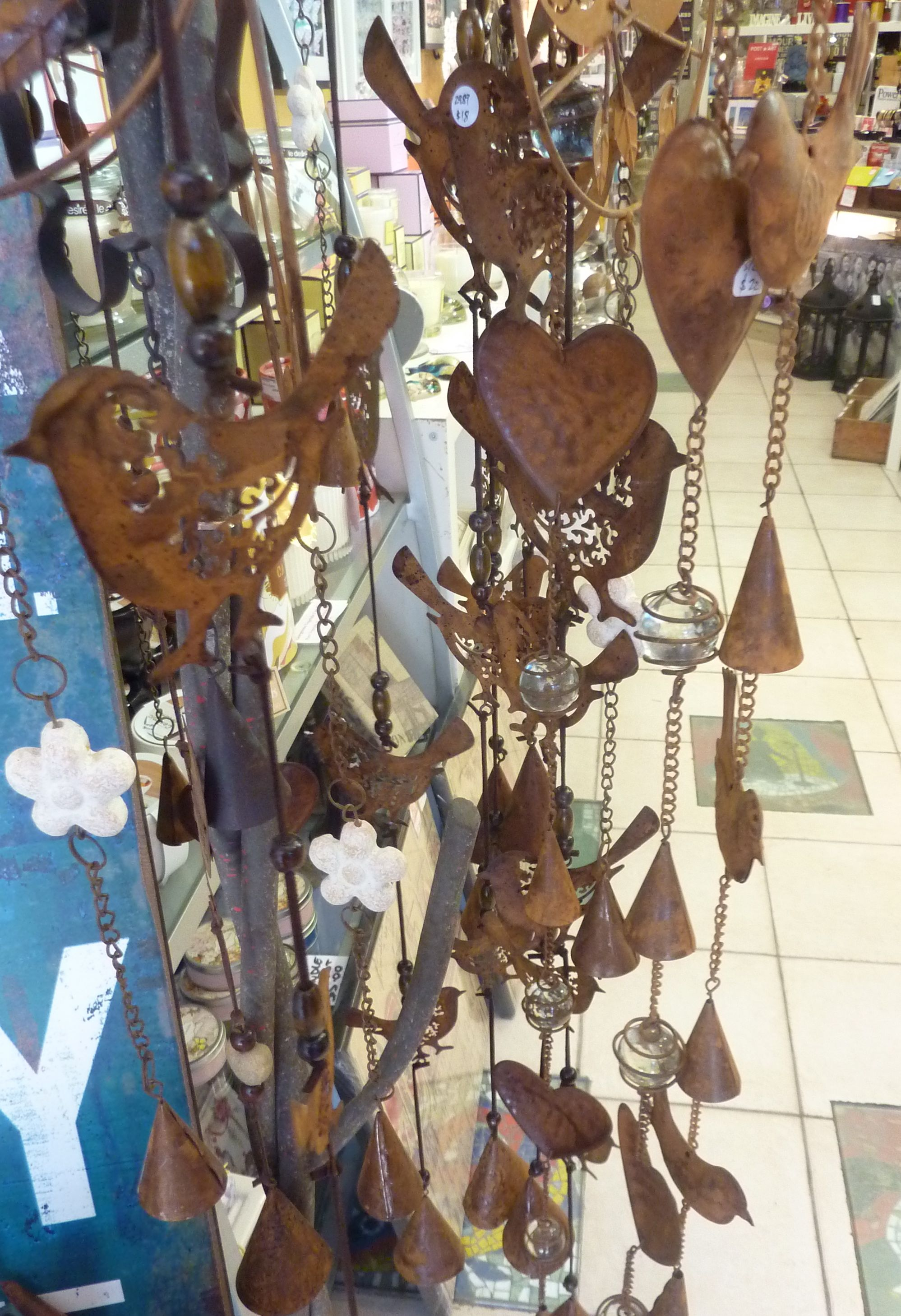 Hanging rust chimes - $18