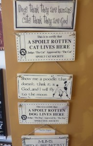Small wooden signs - $14.95